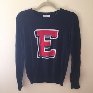 Equipment Preppy Crewneck Sweater Navy